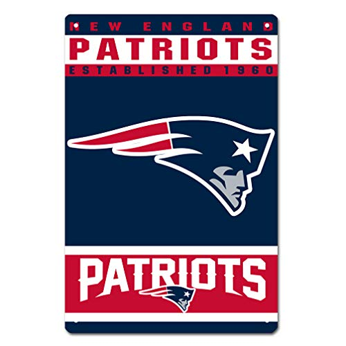 MamaTina Custom New England Patriots American Football Team Design Metal Tin Signs for Home Wall Decor Size 12x8 Inches - England Team Poster