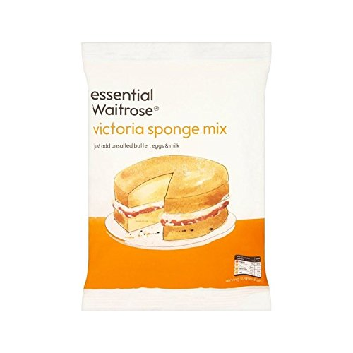 Drink Mix Cake (Victoria Sponge Mix Essential Waitrose 330g - Pack of 6)