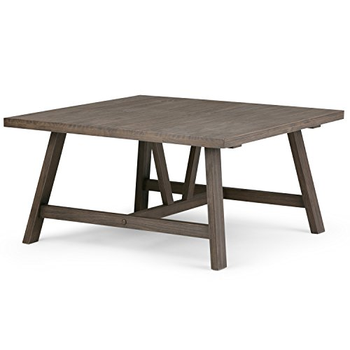 Simpli Home Dylan Square Coffee Table, Driftwood