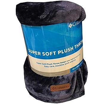Amazon Com Columbia Super Soft Plush Throw Cozy Flannel