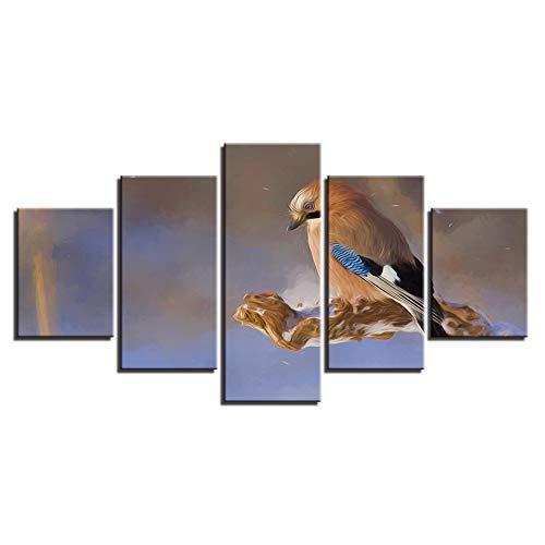 las mejores marcas venden barato Frame 20x35 20x45 20x55cm BAIF 5 5 5 Piezas de Pintura de la Lona impresión Moderna decoración de la Sala de EEstrella casera Arte de la Parojo 5 Piezas de Aves Animales paisajes Pintura Lienzo Modular Cuadros Marcos del Cochetel  100% autentico