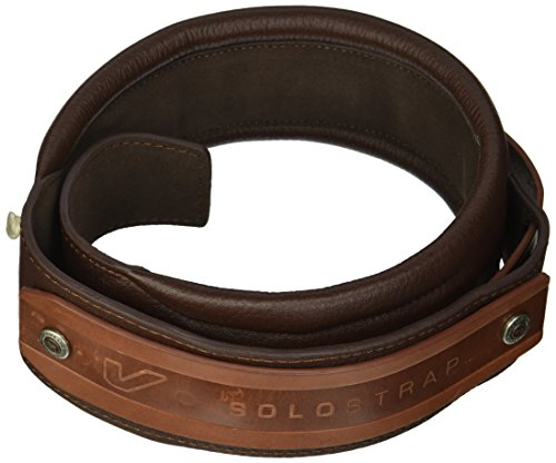Gruv Gear SoloStrap Premium Leather Guitar and Bass Strap, (Comfort Strapp Bass Guitar Strap)