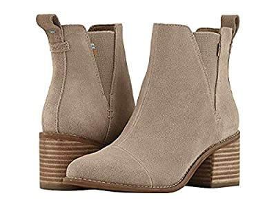 TOMS Womens Esme Heeled Boot Shoes 10013019 Desert Taupe Suede 8