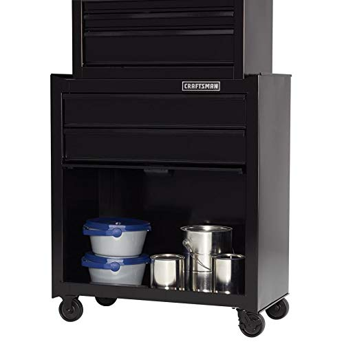 CRAFTSMAN 5-Drawer Ball-Bearing Steel Tool Chest Combo (Black) 1000 Series 26-in W x 44-in H by Craftsman (Image #5)