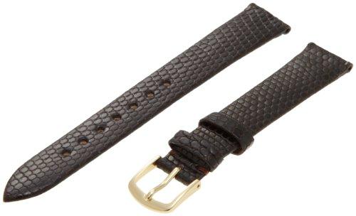 Hadley-Roma Men's MSM700RB-160 16-mm Brown Genuine Lizard Leather Watch Strap 16 Mm Brown Lizard