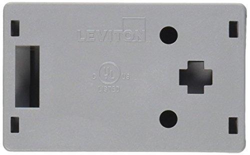 (Leviton 41089-1GP QuickPort Surface Mount Housing, 1-Port, Grey )
