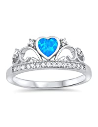 CHOOSE YOUR COLOR Sterling Silver Tiara Ring