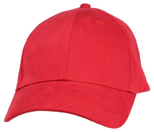 Red Brushed Cotton Cap (DALIX Unisex Hat Hat Fine Brushed Cotton Ball Cap in Red)