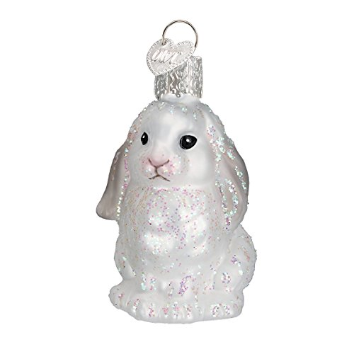 Old World Christmas Ornaments: Baby Bunny Glass Blown Ornaments for Christmas Tree -