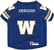 The Sports Vault CFL Winnipeg Blue Bombers Pet Jersey, X-Large Team Color