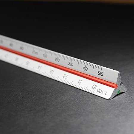 Pocket Size 15cm Metric Metal Aluminium Triangular Scale Ruler 1:2.5 1:5 1:10 1:20 1:50 1:100