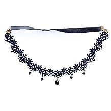 Generic Headband Retro Lace Black Hair Jewelry Head Wear Bridal Band Boho Accessory