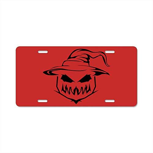 ASUIframeNJK Pumpkin Carving Cat License Plate Frame, Automobile License Plate Holder, American Car Tag Frame]()