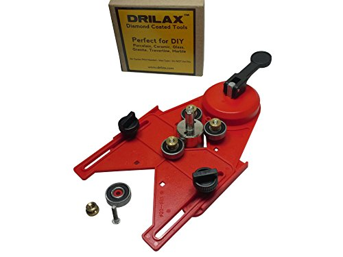 Drilax Drill Bit Hole Saw Guide Jig Fixture Vacuum Suction