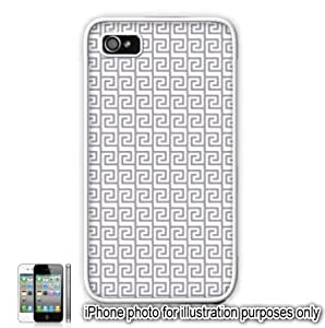 Light Gray Grey Tribal Aztec Mayan Pattern Apple iPhone 4 4S Case Cover Skin White