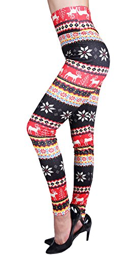 4f19b6bbe5de9c IRELIA Winter Womens Warm Printed Fleece Lined Leggings High Waist Tights -  Regular and Plus Size