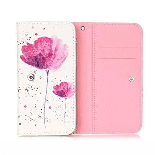 BLU Grand XL LTE Universal Case,Fashion Design Flip Wallet Clutch Bag Carrying PU Leather Protective Universal Cover with Card Slots for Grand XL LTE 5.5 inch
