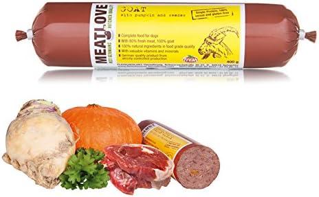 Meatlove 6 x 800 g pasta de ganado levantado único proteína ...