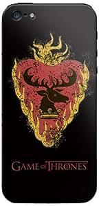 Zing Revolution Game of Thrones Premium Vinyl Adhesive Skin for iPhone 5, Stannis S2 Black (MS-GOT330318)