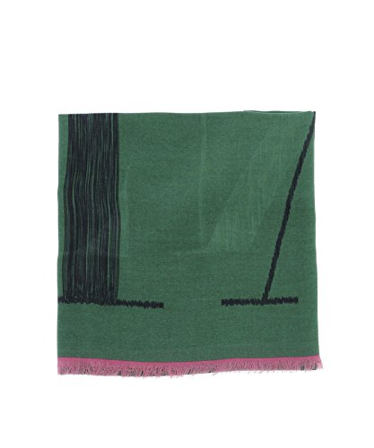 Valentino Men's Pu0eb023love13 Green Modal Scarf by Valentino