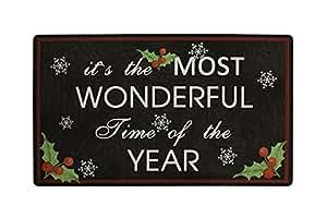 Cristal de emoción maravilloso tiempo Navidad impresión sala de estar Felpudo cocina alfombra piso escaleras zona antideslizante frontal porche alfombra alfombrilla de entrada