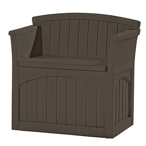 jnwd Resin Storage Bench 31 Gallon Patio Box Container Waterproof Durable for Indoor Outdoor Furniture Garden Backyard Garage Utility Room Weather Resistance & e-Book by jnwd