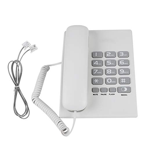 Telephones Landline for Home Hotel Office, Wired Corded Business Desktop Phone, Support One-Button Redial, Pause and Flash