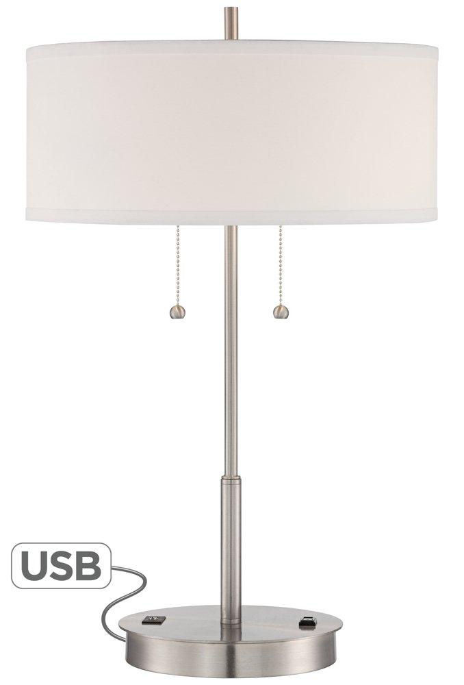Nikola Metal Table Lamp With Usb Port And Utility Plug Amazon Com