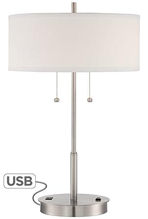 Amazon nikola metal table lamp with usb port and utility plug nikola metal table lamp with usb port and utility plug aloadofball Gallery