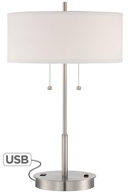Nikola Metal Table Lamp with USB Port and Utility Plug - - Amazon.com