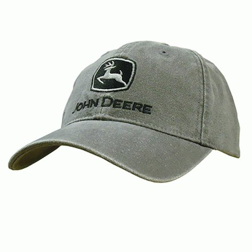 John Deere Men's Low Profile Embroidered Heather Canvas Hat