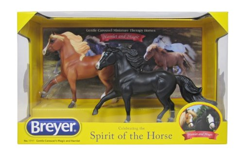 Breyer Gentle Carousel Magic and Hamlet Miniature Therapy Horses