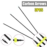 Anddoa 3/6/12Pcs 32'' 8mm Glass Fiber Fishing Archery Arrow Fishing Harpoon with Broadheads Safety Slides - 3pcs