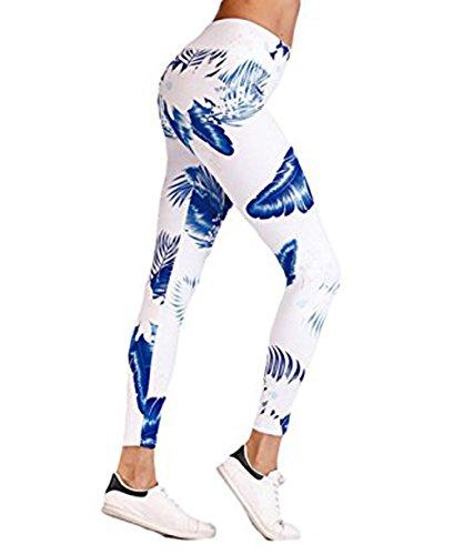 Goocheer Women's Floral Printed High WaistTummy ControlLeggings Workout Yoga Pants ()