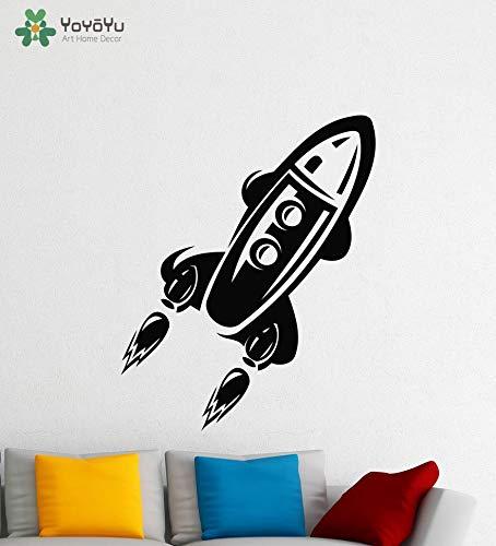 ganlanshu Tatuajes de Pared Nave Espacial Sala de niños Etiqueta ...