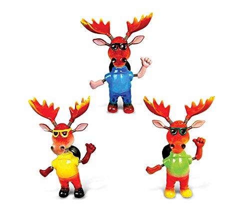Magnet Trio Set - Puzzled Cool Moose Refrigerator Bobble Magnet (Set of 3)