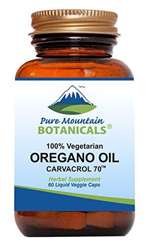 Wild Oregano Oil Capsules - 60 Vegan Caps - Now with 510mg Mediterranean Oil of Oregano (Best Oil Of Oregano For Herpes)