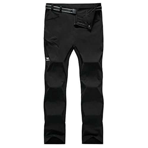 Womens Elastic Waterproof Quick Drying Wicking Active Pants 819B Black Medium