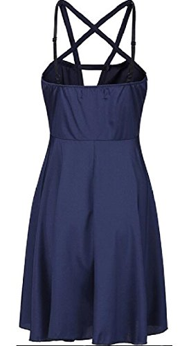 Strap Women's Cross Jaycargogo Front Dress Mini Party Summer Sleeveless 1 OtBOd