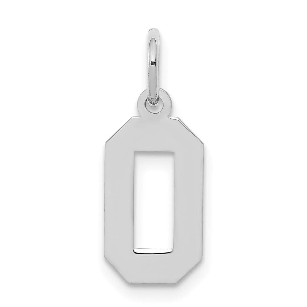 Solid 925 Sterling Silver Small Polished Number 0 4mm x 20mm