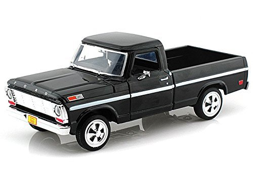 (Showcasts Collectibles 1969 Ford F-100 Pickup Truck 1/24 Scale Diecast Model Car Black)