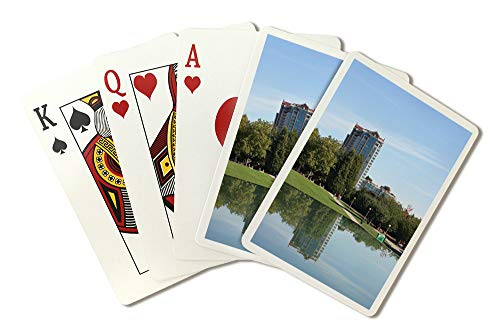 (Bellevue Park, Washington Reflection Photograph A-91374 (Playing Card Deck - 52 Card Poker Size with Jokers))