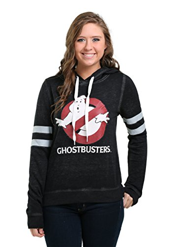 Women's Ghostbusters 80s Movie Logo Hooded Sweatshirt. S to XL