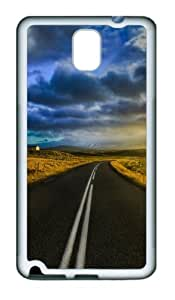 The Open Road In Iceland Custom Design TPU Silicone Case Cover for Samsung Galaxy Note 3 / Note III/ N9000 ¨C White