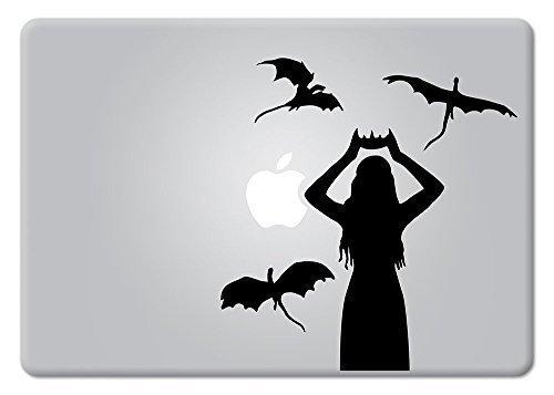 Daenerys Targaryen Game of Thrones Emilia Clarke Mother of Dragons Macbook Decal Vinyl Sticker Apple Mac Air Pro Retina Laptop sticker