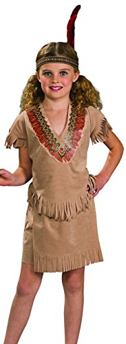 [Rubies Indian Girl Child Costume, Medium] (Red Indian Costume Girl)