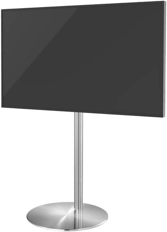 Cavus diseño TV Soporte de Suelo Acero Inoxidable Ø 60 mm Compatible con LED OLED LCD Plasma, Color Plata: Amazon.es: Electrónica