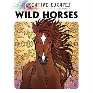 Dover Saddlery Creative Escapes Coloring Book: Wild Horses