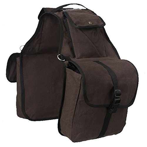 Tough-1 Canvas Saddle Bag for Horses Black