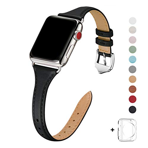 WFEAGL Leather Bands Compatible with Apple Watch 38mm 40mm 42mm 44mm